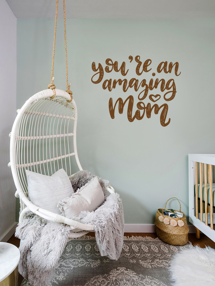 WD-0185-Mom Quote – You are an amazing mom-2.1-Copper Metalic