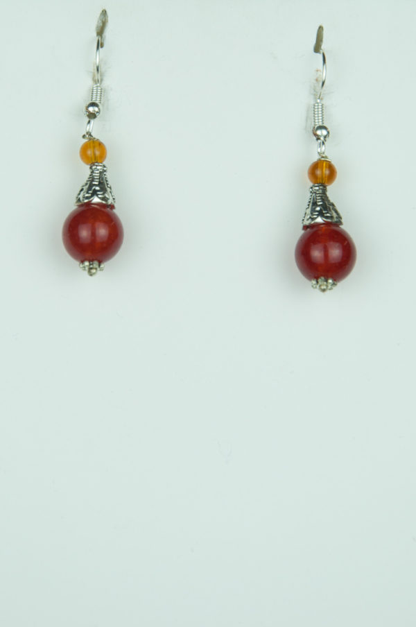 Brown Agate Earring